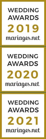 L'atelier des caprices a obtenu les weddings awards en 2019, 2020 et 2021